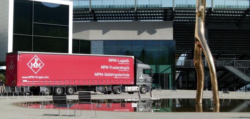 MPM-Truck unterwegs